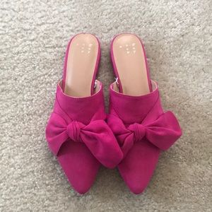 Pink Bow mules